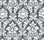 "Cushion Cover in Michael Miller Damask Charcoal Grey White 14"" 16"" 18"" 20"""